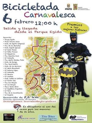 Carnaval 2016 | Pinto | Comunidad de Madrid | Bicicletada Carnavalesca | Cartel