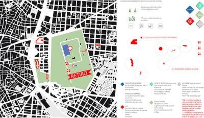 'De casa a la plaza' | Marta Kayser y  alumnos Colegio Hermanos Amorós | Levadura 2015 | CentroCentro Cibeles | Madrid | Plano y herramientas para construir un lugar común