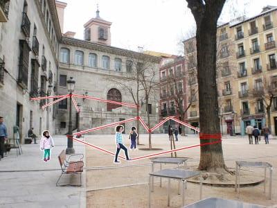 'De casa a la plaza' | Marta Kayser y  alumnos Colegio Hermanos Amorós | Levadura 2015 | CentroCentro Cibeles | Madrid | Plaza de la Paja