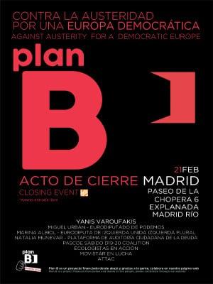 Plan B contra la austeridad por una Europa democrática | Jornadas Madrid | Acto de cierre | Domingo 21/02/2016