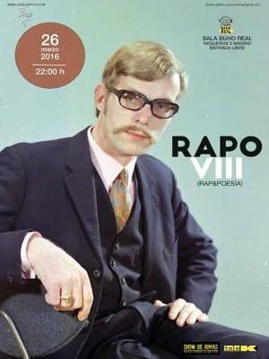 8º Festival RAPO Rap&Poesía | Sala Búho Real | Madrid | 26/03/2016 | 22:00 horas | Cartel José Naveiras