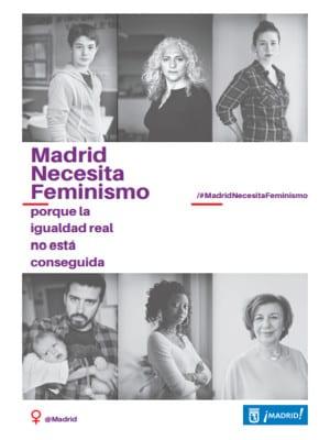 Madrid necesita feminismo porque la igualdad real no esta conseguida | #madridnecesitafeminismo | Ayuntamiento de Madrid | Día Internacional de las Mujeres | 8 de marzo de 2016