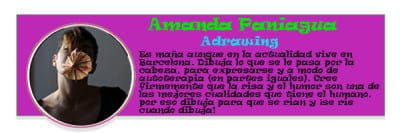 Perfil colaboradores PqHdM | Amanda Paniagua | Adrawing