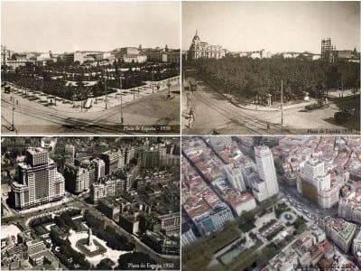 Plaza de España de Madrid | Montaje 1920-1929-1950-2014