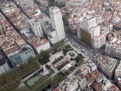 Plaza de España de Madrid | Vista aérea 2014