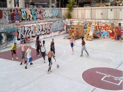 El Campo de Cebada | Partido de baloncesto | Verano 2015 | Barrio de La Latina | Distrito Centro | Madrid