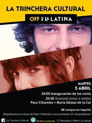 La Trinchera Cultural | Martes Literarios | Off de La Latina | Madrid | 'Deseando fumar a medias' | Paco Cifuentes y Nuria Gómez de la Cal | 05/04/2016
