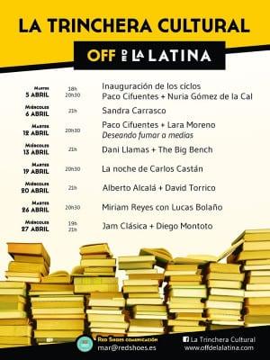 La Trinchera Cultural | Martes Literarios y Miércoles Musicales | Off de La Latina | Madrid | Programación abril 2016