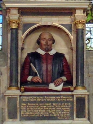 Monumento funerario a William Shakespeare (detalle) | Holy Trinity Church | Stratford-upon-Avon | Inglaterra