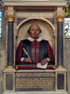 Monumento funerario a William Shakespeare (detalle) | Holy Trinity Church | Stratford-upon-Avon | Inglaterra