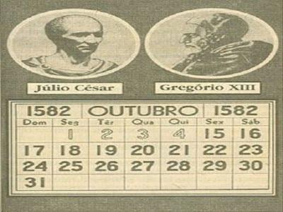 Paso del jueves 4 de octubre de 1582 (calendario juliano) al viernes 15 de octubre de 1582 (calendario gregoriano) en una ilustración portuguesa