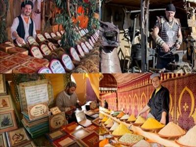 Primer Mercado Siglo de Oro de Alcalá de Henares | 4º Centenario de la muerte de Miguel de Cervantes | Del 21 al 24 de abril de 2016 | Comunidad de Madrid | Mosaico mercado