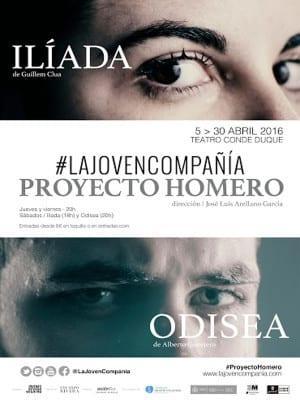 'Proyecto Homero: Ilíada - Odisea'   La Joven Compañía   Teatro del Conde Duque   Abril 2016   Cartel