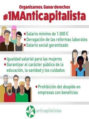 1º de Mayo 2016 | Anticapitalistas | 'Organizarnos. Ganar derechos' | Madrid