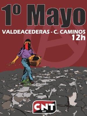 1º de Mayo 2016 | CNT | 'Contra el paro: Reparto del trabajo y de la riqueza, por las 30 horas' | Madrid