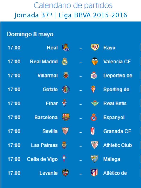 Calendario De Liga Bbva 15 16.Previa Jornada 37ª Liga Bbva 15 16 Y Si San Isidro Ayudara