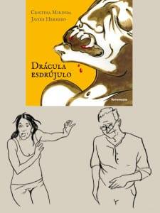 'Drácula Esdrújulo' | Cristina Mirinda y Javier Herrero | Ediciones Torremozas | Madrid 2015 | Portada libro y dibujos autores de Javier Herrero