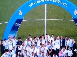 Final UEFA Champions League 2015-2016   Real Madrid vs Atlético de Madrid   Estadio de San Siro - Milán - Italia   28/05/2016   Conjunto madridista Campeón de Europa