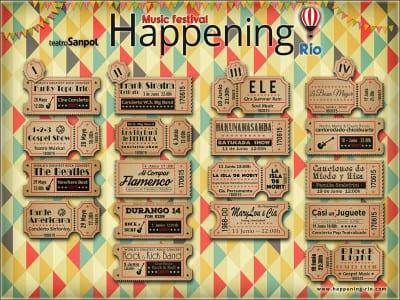 Happening Río Music Festival   Teatro Sanpol-   Moncloa-Aravaca   Madrid   28 mayo - 19 junio -2016   Cartel