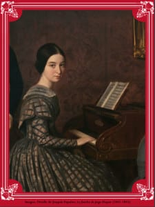 'La familia de Jorge Flaquer' (detalle) | 1842-1845 | Joaquín Espalter | Museo Nacional del Romanticismo | Madrid - España