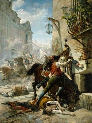 Malasaña y su hija batiéndose contra los franceses | 1887 | Eugenio Alvárez Dumont | Museo del Prado | Madrid - España