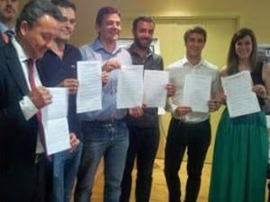 Representantes Coordinadora de Asociaciones de Vecinos Madrid Centro | Ayuntamiento de Madrid | 18/05/2015