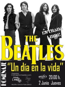 'Un día en la vida' Homenaje a The Beatles   Satélite T   Bilbao   02/06/2016   Organizan 'Bolo' García - Camiseta i media