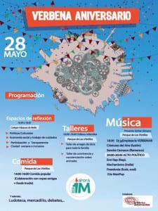 Verbena 1er Aniversario Ahora Madrid | Las Vistillas | La Latina | Madrid | 28 de mayo de 2016 | Cartel programación
