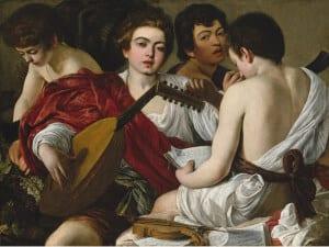 'Caravaggio y los pintores del norte' | Museo Thyssen-Bornemisza | Madrid | Del 21/06 al 18/09/2016 | Los músicos (ca.1596-1597) | Michelangelo Merisi Caravaggio