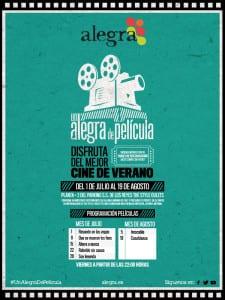 Cine de Verano Parque Alegra   'Un Alegra de Película'   Del 1 de julio al 19 de agosto de 2016   San Sebastián de los Reyes   Comunidad de Madrid   Cartel