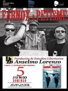 Farnox & Petisme | 'BarrioAndante' | 75ª Feria del Libro de Madrid | Parque de El Retiro | Madrid | Caseta 14 | Fundación de Estudios Libertarios Anselmo Lorenzo | 05/06/2016