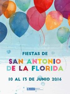 Fiestas de San Antonio de la Florida 2016 | Parque de la Bombilla | Moncloa-Aravaca | Madrid | 10 al 13 de junio de 2016 | Cartel