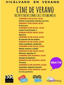 Fiestas Vicálvaro 2016 | Del 17 de junio al 15 de agosto de 2016 | Distrito de Vicálvaro | Madrid | Cine de Verano