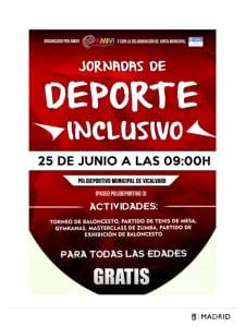 Fiestas Vicálvaro 2016 | Del 17 de junio al 15 de agosto de 2016 | Distrito de Vicálvaro | Madrid | Jornada de Deporte Inclusivo | 25/06/2016