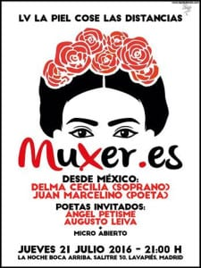 55ª 'La piel cose las distancias' | 'Muxer.es' | 21/07/2016 | La Noche Boca Arriba | Lavapiés - Madrid | Cartel