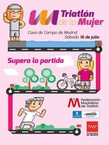 Día del Triatlón de Madrid 2016   Casa de Campo de Madrid   Sábado 16 de julio de 2016   Federación Madrileña de Triatlón   Comunidad de Madrid   Ayuntamiento de Madrid   Triatlón de la Mujer