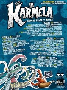 Fiestas de La Karmela 2016 | 'Contra pulpo y marea' | 14 al 17 de julio de 2016 | Puente de Vallecas - Madrid | Cartel