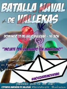 Fiestas de La Karmela 2016 | 'Contra pulpo y marea' | 14 al 17 de julio de 2016 | Puente de Vallecas - Madrid | Cartel Batalla Naval de Vallekas