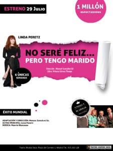 'No seré feliz pero tengo marido' | Teatro Muñoz Seca | Verano 2016 | Cartel
