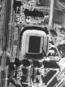 Archivo municipal de fotografías aéreas | Ayuntamiento de Madrid | Estadio Santiago Bernabéu | Chamartín | 1957