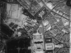 Archivo municipal de fotografías aéreas | Ayuntamiento de Madrid | Plaza de España | Moncloa-Aravaca | 1950