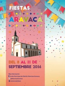 Fiestas de Aravaca 2016 | Moncloa-Aravaca | Madrid | 8 al 11 de septiembre de 2016 | Cartel