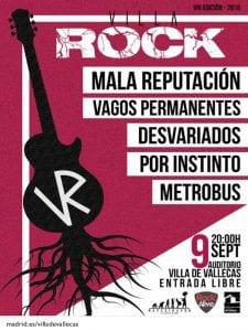 Fiestas de la Virgen de la Torre 2016 | Villa de Vallecas | Madrid | 02-11/09/2016 | 8º VillaRock | Cartel