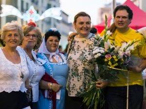 Fiestas San Cayetano, San Lorenzo y La Virgen de la Paloma 2016 | Chulapas y Dragones de Lavapiés | Pregón de Fiestas | Plaza de Cascorro | 04/08/2016