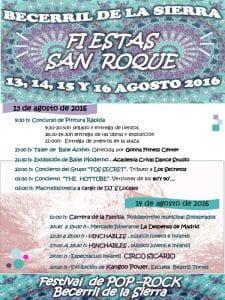 Fiestas de San Roque 2016 | Becerril de la Sierra | Comunidad de Madrid | 13, 14, 15 y 16 de agosto de 2016 | Programa 1