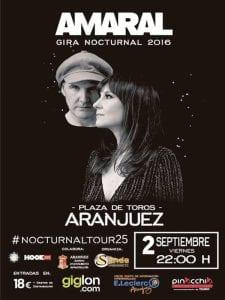 Fiestas del Motín de Aranjuez | 2 al 5 de septiembre de 2016 | Concierto de Amaral