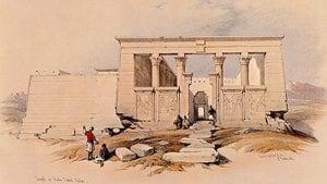 Templo de Debod | 1839 | David Roberts | Litografía a color