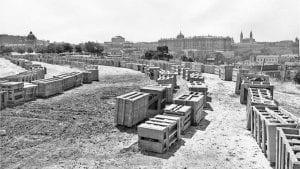 Templo de Debod | Cajas en la Montaña del Príncipe Pío | 1969