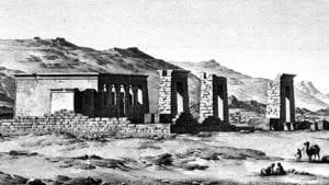 Templo de Debod | Egipto | Grabado siglo XIX
