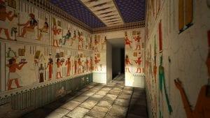 Templo de Debod | Egipto | Recreación de la decoración de las paredes